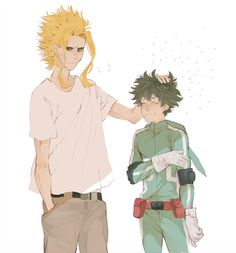 Boku no Hero Academia: Midoriya and All Might