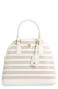 Gorgeous perforated Tory Burch satchel.