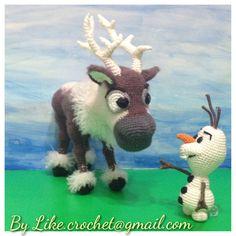 Reindeer Sven of Frozen Amigurumi crochet patterns by LikeCrochet, $72.00