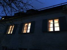It is getting dark already and the Jury is still sitting behind these illuminated windows...