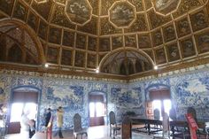 Grand drawing room in Sintra's national palace