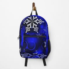 Snowflakes, Fashion Backpack, Royal Blue, Clutches, Traveling By Yourself, Print Design, Laptop, Backpacks, Printed