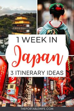 These 1 week Japan itinerary options are perfect for planning a trip to Japan. Whether you want an off the beaten path Japan travel itinerary or the popular Tokyo Kyoto Osaka itinerary, my Japan travel guide has got you covered. Explore the best Japan travel destinations, from Fushimi Inari shrine to Shinjuku. These travel tips are great for a first time trip to Japan. | Japan on a budget | 5 days in Japan | Osaka Kyoto itinerary | Travel Japan by train | #japan #asiatravel #japantravel