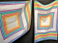 70's Vera Neumann by Burlington Geometric by ElkHugsVintage, $15.00