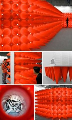 road cone as art