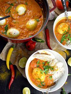Indisches Egg Curry - super leckeres Veggie-Curry mit den typisch indischen Aromen 🍛