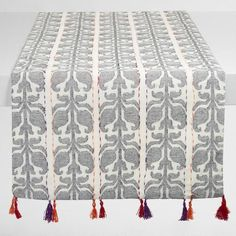 One of my favorite discoveries at WorldMarket.com: Floral Stripe Jacquard Nitika Table Runner