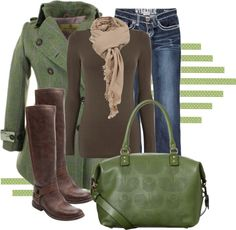 """I LOVE THIS ENTIRE COMBO!!! """"Fall Style Deep Greens"""" by anne-ratna on Polyvore"""