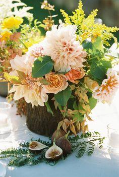 Pretty blooms: http://www.stylemepretty.com/california-weddings/st-helena/2015/04/06/charming-yellow-wedding/ | Photography: Myrtle & Marjoram - http://www.myrtleandmarjoram.com/