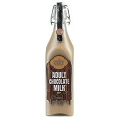 Adult Chocolate Milk Liqueur. Remember getting home from school in the afternoons to find your mom waiting on you with a warm plate of cookies and iced cold chocolate milk? | spiritedgifts.com