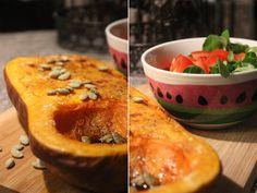 Johannas Bilder sind wiedermal zum sabbern: gebackener Butternut mit Salat