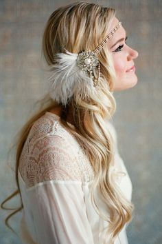 Flapper Headband - Gold and Ivory