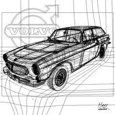 Volvo P 1800 ES vector