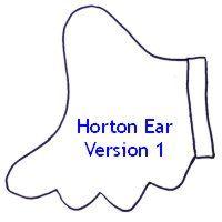 Horton the elephant ear pattern.