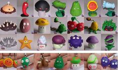 plants vs zombies in polymer clay