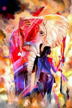 Elephant art Africa