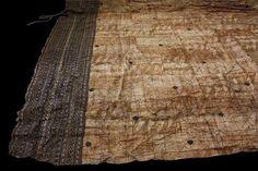 Tapa cloth tent, Samoa. late 19th century bark, the main body decorated with ...  carters.com.au