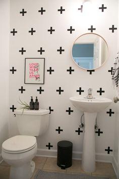 Modern bathroom decor ideas Rental Apartment Bathroom Ideas Best Of Easy Reversible Design Ideas for Rental Bathroom, Bathroom Wall Decor, Bathroom Ideas, Bathroom Ceilings, Shower Ideas, College Bathroom, Bathroom Canvas, Budget Bathroom, Bath Ideas
