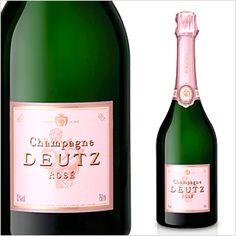 濃いピンクの色合いに、きめの細かい泡が弾ける。ドゥッツ ブリュット・ロゼ N.M. / ワイン通販セリエ・ド・ヴィノラム Champagne Deutz, Wine, Drinks, Bottle, Butler Pantry, Drinking, Beverages, Flask, Drink