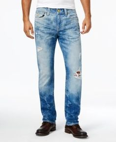 True Religion Men's Geno Slim-Fit Distressed Jeans - Blue 30