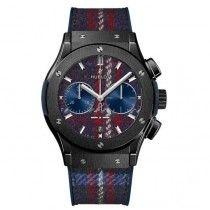 "Hublot Classic Fusion Chronograph Italia Independent Ceramico ""Tartan"" Reloj 521.CM.2703.NR.ITI17"