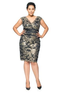 Paillette Embroidered Lace Banded Dress
