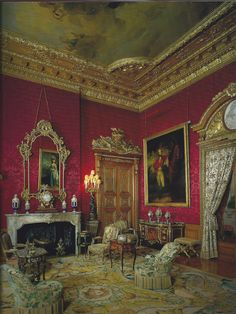 Waddeson Manor - The Red Drawing Room