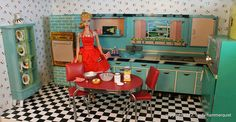 arial view of barbie baking goodies