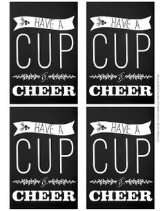 Free printable tags for cocoa gifts with room to pen in your own cup of cheer printables also has for your mistle toes and rock the night away printables solutioingenieria Images