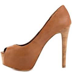 Jessica Simpson Women's Carri Platform Pump,Tan Luca Leather,6.5 M US