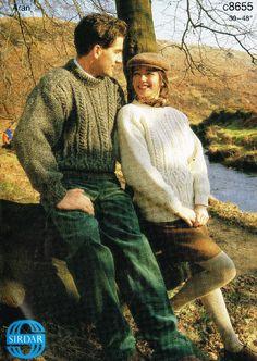 Sirdar 8655 aran jumper ladies vintage knitting pattern Listing in the Aran,Patterns,Knitting & Crochet,Crafts, Handmade & Sewing Category on eBid United Kingdom