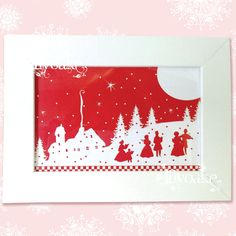 The Carolers Framed Christmas Silhouette by LilyOake, on ETSY $10.00 + shipping