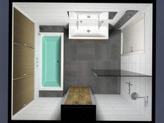 Teksten & zo - Badkamer idee voor kleine badkamer