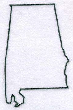 Alabama State Stencil Made from 4 Ply Mat Board-Choose a Size-From to Alabama Tattoos, State Tattoos, State Outline, Sweet Home Alabama, Down South, Alabama Football, Home Signs, String Art, I Tattoo