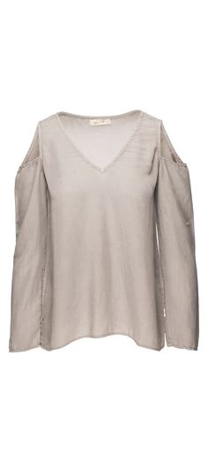 Bella Dahl Cold Shoulder Shirt in Pebble Grey / Manage Products / Catalog / Magento Admin