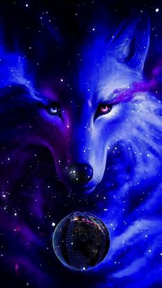 Animal Wallpaper And iphone Tier Wallpaper, Cute Galaxy Wallpaper, Wolf Wallpaper, Animal Wallpaper, Pet Anime, Anime Animals, Cute Animals, Artwork Lobo, Wolf Artwork