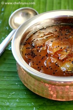 South Indian Style Mango Chutney/sauce is a beautiful balance between tangy, sour, bitter, sweet, pungent and astringent tastes. Indian Food Recipes, Asian Recipes, Vegetarian Recipes, Cooking Recipes, Curry Recipes, Green Mango Chutney, Fried Fish Recipes, Desi Food, Indian Kitchen