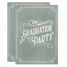 Victorian Vintage Graduation Invitation Grad Party - graduation party invitations card cards cyo grad celebration