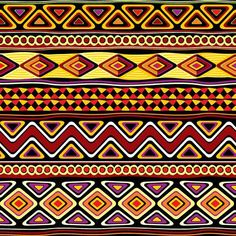 African Decorations Collection Oriental African Patterns with Geometric Ornate Forms and Antique Shapes Retro Artprint Multi Dining Room Kitchen Rectangular Table Co Arte Tribal, Tribal Art, Motifs Aztèques, Afrique Art, African Theme, Art Premier, Ethnic Patterns, African Patterns, African Tribes