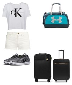 """""""Airport"""" by jmkz72302 ❤ liked on Polyvore featuring Yves Saint Laurent, NIKE, STELLA McCARTNEY, MICHAEL Michael Kors and Under Armour"""
