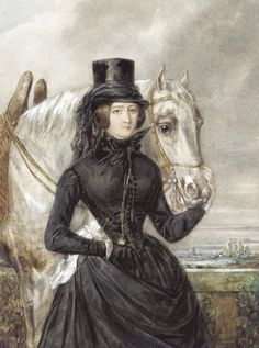 A Lady in Riding Clothes. .Some historical inspiration for steampunk: