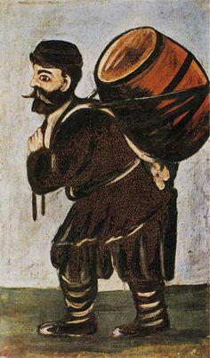 Нико Пиросмани – Мужчина с бочонком