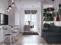 Фотография:  в стиле , Скандинавский, Малогабаритная квартира, Квартира, Студия…
