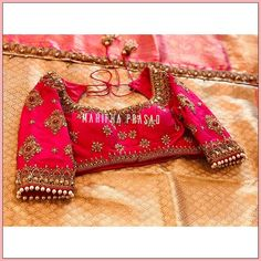 Pattu Saree Blouse Designs, Blouse Designs Silk, Bridal Blouse Designs, Sari Blouse, Blouse Patterns, Gold Temple Jewellery, Aari Work Blouse, Creative Photography, Silk Sarees
