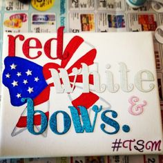 Red, white, and bows. We love the variation, and this would make a great bid day theme.