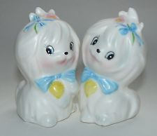 Vintage Lefton Toodles Dog Salt and Pepper Shakers