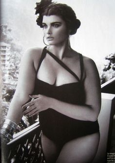 Crystal Renn, in her more curvy days.  A beauty regardless of size!