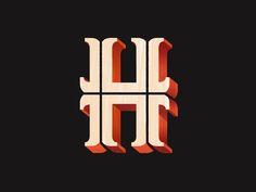 H #typography #design #inspiration