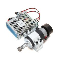 300W Air-cooled Motorized Spindle Motor with Clamp and Power Supply Speed Governor