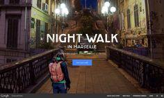 Full screen immersive site, using Google st view. Google Night Walk